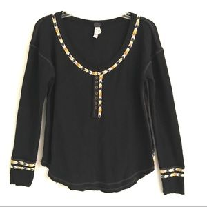 Free People we the free chevron thermal Henley top